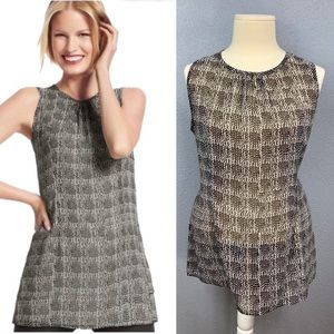 CAbi 608 Chloe Tunic layering sleeveless blouse XL